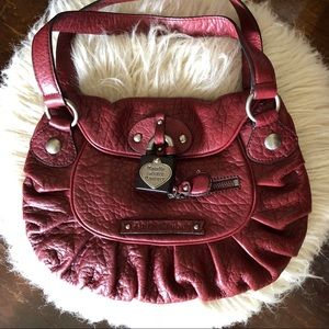 Juicy Couture burgundy leather handbag